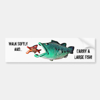 Fish with Attitude by Artist Mike Quinn Bumper Sticker