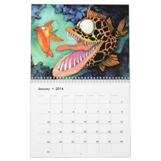 Fish With Attitude Collection by Mike Quinn Calendar