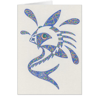 Fish with Attitude  Notecard