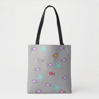 Fish World All Over Print Tote Bag