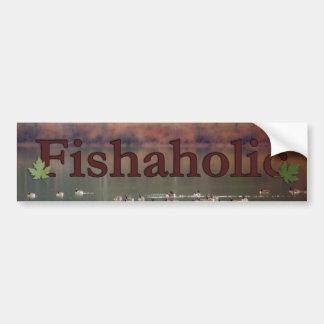 Fishaholic Bumper Sticker