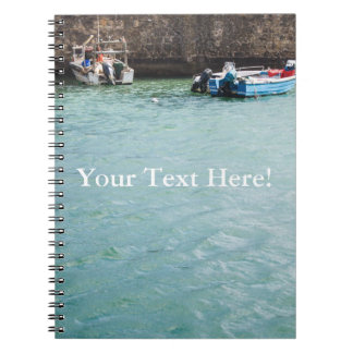 Fishboat in harbour Portugal Notebook
