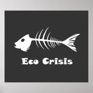 Fishbone Eco Crisis Dark Poster
