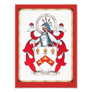 Fisher Family Coat of Arms Photo Print