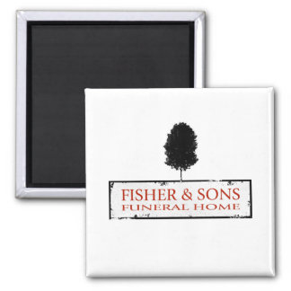 Fisher & Sons Funeral Home Square Magnet
