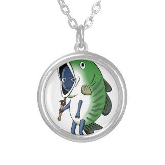 Fisherman 2 English story Kinugawa Tochigi Silver Plated Necklace