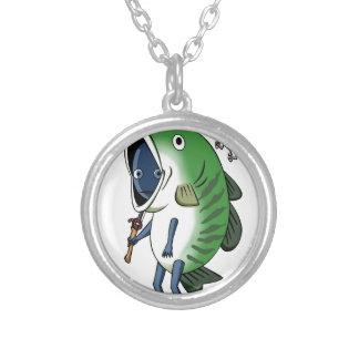 Fisherman 3 English story Kinugawa Tochigi Silver Plated Necklace