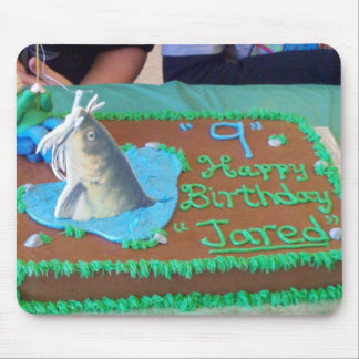 Fisherman Birthday cake for Jared Mouse Pad