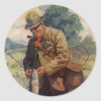 Fisherman Classic Round Sticker