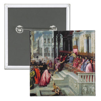 Fisherman Giving the Ring to the Doge of Venice 15 Cm Square Badge
