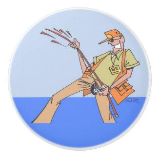 Fisherman Inside ceramic knob