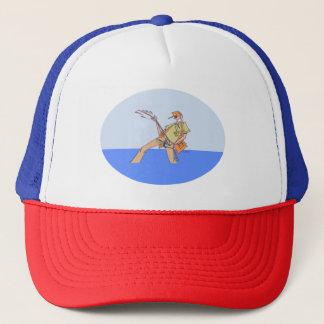 Fisherman Inside trucker hat rwb