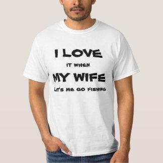 fisherman loves his wife tees