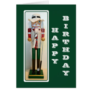 Fisherman Nutcracker Happy Birthday Card