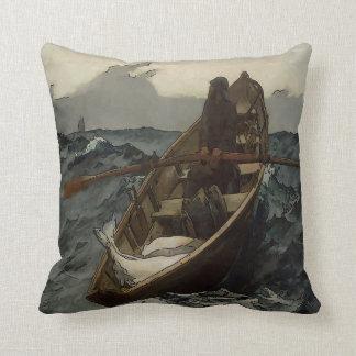Fisherman, Old Man Throw Pillow