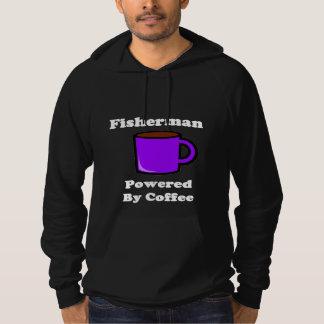 """""""Fisherman"""" Powered by Coffee Hoodie"""