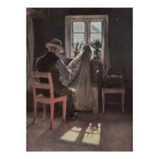 Fisherman repairing his nets by Anna Ancher Posters