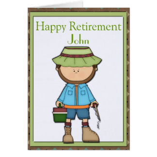 Fisherman Retirement Greeting Card