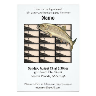 Fisherman Retirement Party Invitation