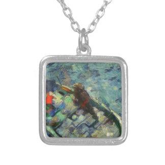 fisherman_saikung Hong Kong Silver Plated Necklace