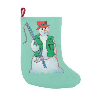 fisherman snowman Christmas stocking