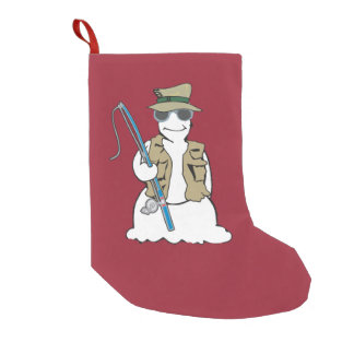 fisherman snowman  stocking