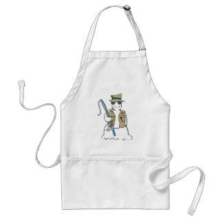 Fisherman snowman with vest standard apron