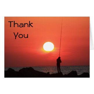 fisherman Thank You Note Card