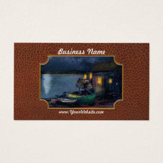 Fisherman - The Fisherman's Cabin 1915 Business Card