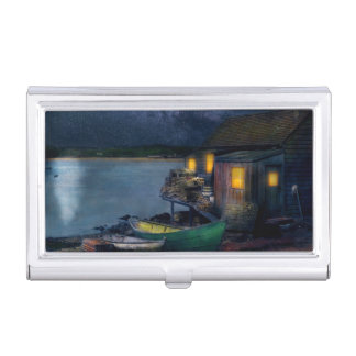 Fisherman - The Fisherman's Cabin 1915 Business Card Holder