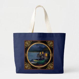 Fisherman - The Fisherman's Cabin 1915 Large Tote Bag