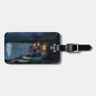 Fisherman - The Fisherman's Cabin 1915 Luggage Tag