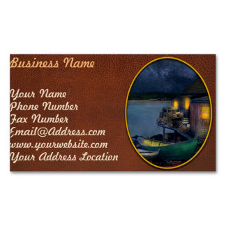 Fisherman - The Fisherman's Cabin 1915 Magnetic Business Card