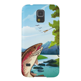 Fisherman Trout Fly Fishing Samsung Galaxy S5 Case