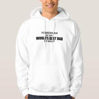 Fisherman World's Best Dad by Night Hoodie