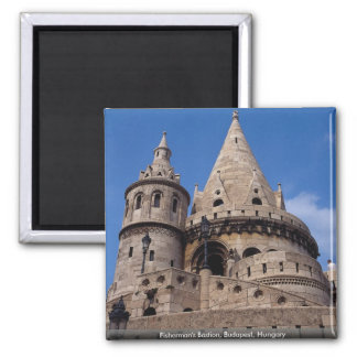 Fisherman's Bastion, Budapest, Hungary Square Magnet
