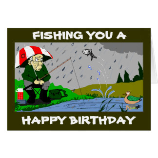 FISHERMANS BIRTHDAY CARD