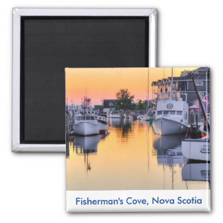 Fisherman's Cove, Eastern Passage, Nova Scotia Square Magnet