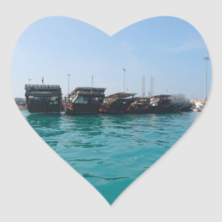 Fisherman's Harbour Heart Sticker