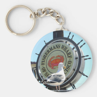 Fisherman's Wharf Basic Round Button Key Ring