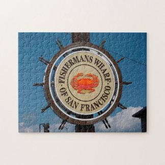 Fisherman's Wharf California. Jigsaw Puzzle