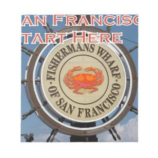 Fishermans Wharf San Francisco California USA CA Notepad