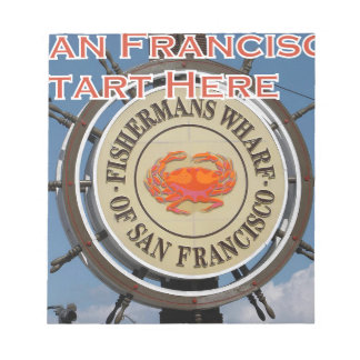 Fishermans Wharf San Francisco California USA CA Notepads