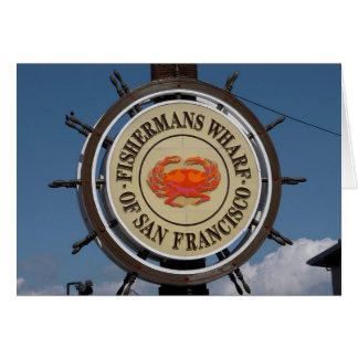 Fisherman's Wharf Sign Card