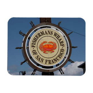 Fisherman's Wharf Sign Rectangular Photo Magnet