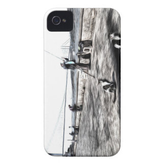 Fishermen And Cats Istanbul Art iPhone 4 Case-Mate Case