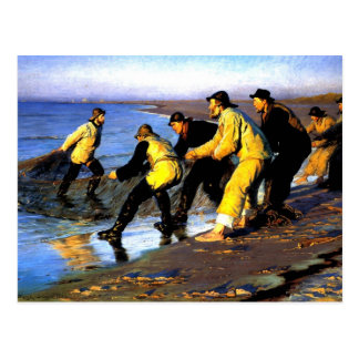 Fishermen Hauling the Net on Skagen s North Beach Post Card