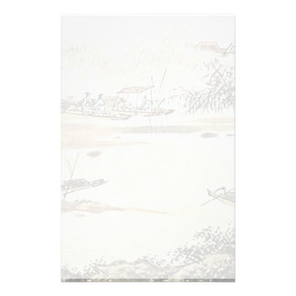 Fishermen On The River By Dai Jin (Best Quality) Stationery Design