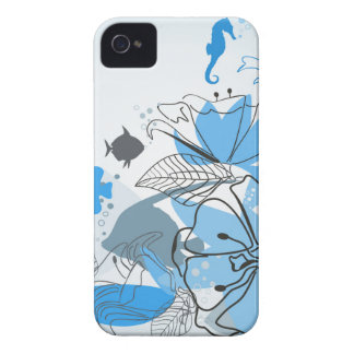Fishes a flower iPhone 4 Case-Mate cases