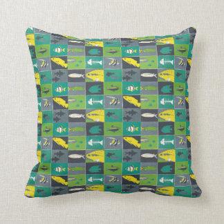 fishes beach house decor pattern cushion